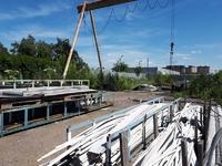 Аренда открытой площадки с краном на Осташковском шоссе, 10  км от МКАД. 2000 кв.м.